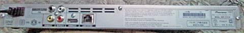 Pioneer(パイオニア)のブルーレイディスクプレーヤーBDP-3110-WをDVDの背面パネルにはHDMI端子などがある