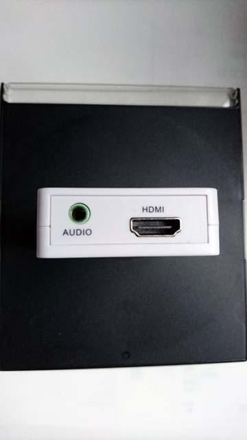 上海問屋のHDMI音声分離器の出力側