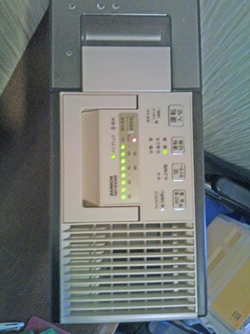 ダイニチのハイブリッド加湿器HD-RX509の操作スイッチは本体上部
