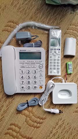 シャープ デジタルコードレス電話機(子機1台付)JD-G31CLの内容物