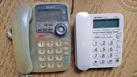 シャープ デジタルコードレス電話機(子機1台付)JD-G31CLとソニーのコードレス電話SPP-C66の比較