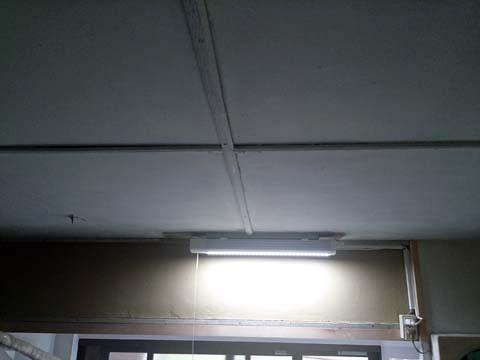 NOATEK(ノアテック) のLEDキッチンライトN-LED4820Pを点灯したところ